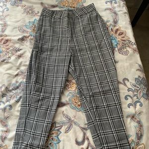 Plaid Skinny Trousers (Long)